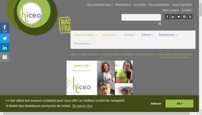 Site internet de Hiceo