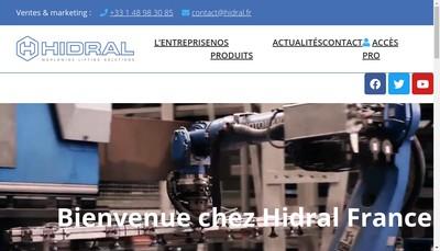 Site internet de Hidral France