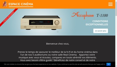 Site internet de Espace Cinema