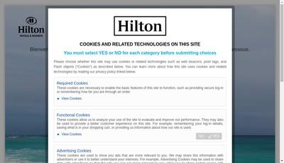 Site internet de Hilton
