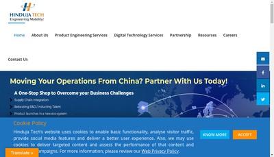 Site internet de Hinduja Tech Limited