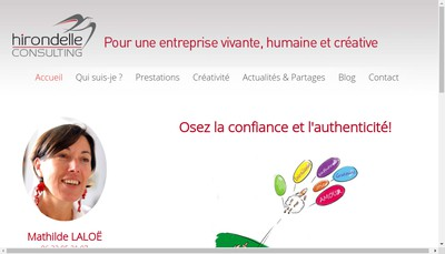 Site internet de Hirondelle Consulting