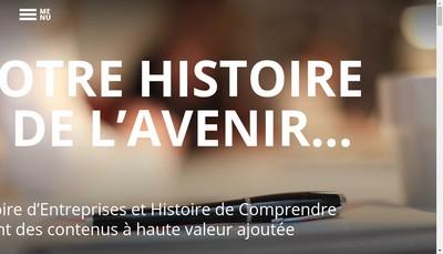 Site internet de Histoire d'Entreprises