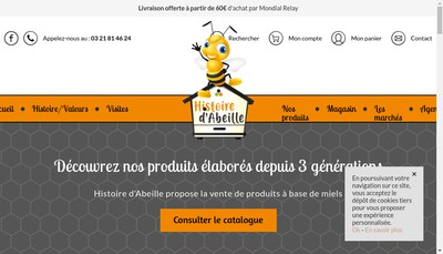 Site internet de Musee Vivant de l'Abeille d'Opale