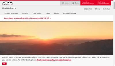 Site internet de Hitachi Europe SAS