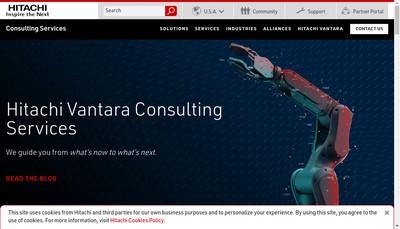Site internet de Hitachi Consulting France SAS