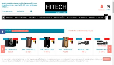 Site internet de Hitech Audio Video