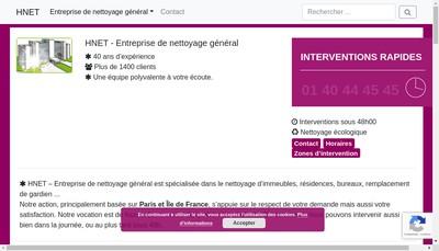 Site internet de H Net Idf