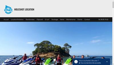 Site internet de Holeshot Location