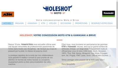 Site internet de Holeshot Motos