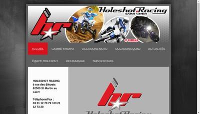 Site internet de Holeshot Racing