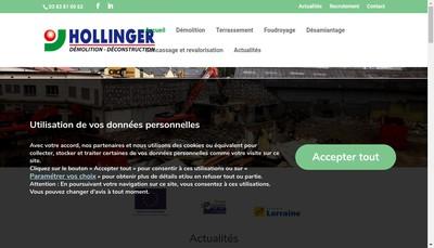 Site internet de Entreprise Hollinger