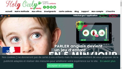 Site internet de Kids Mba