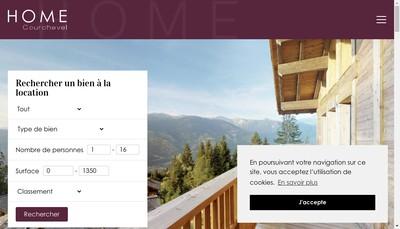 Site internet de Home Courchevel