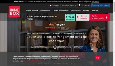 Site internet de Homebox