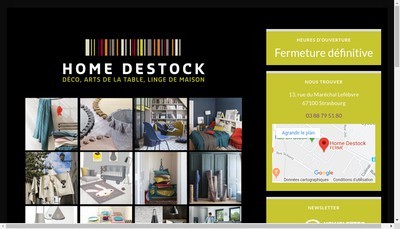 Site internet de Home Destock