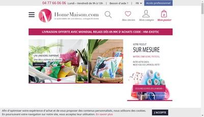 Site internet de Home Maison