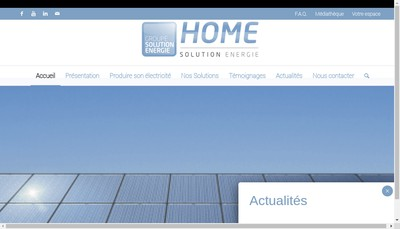 Site internet de Home Solution Energie