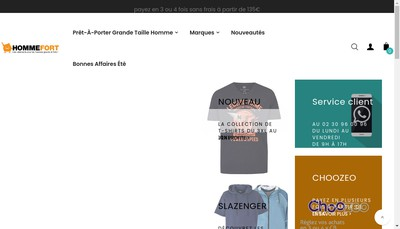 Site internet de Arthca Homme Fort Huit Xl 8Xl Pro