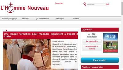 Site internet de Editions de l'Homme Nouveau