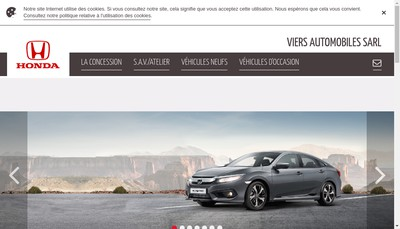 Site internet de Viers Automobiles