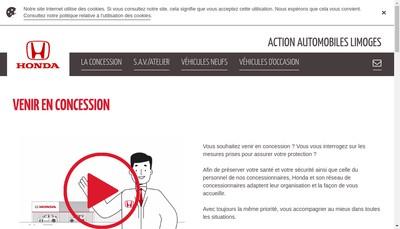 Site internet de Action Automobiles Limoges