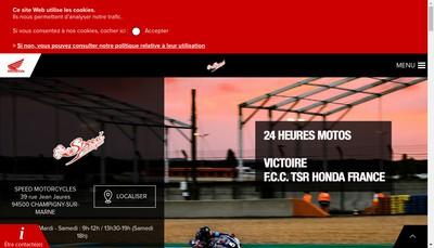 Site internet de Speed Motorcycles SARL
