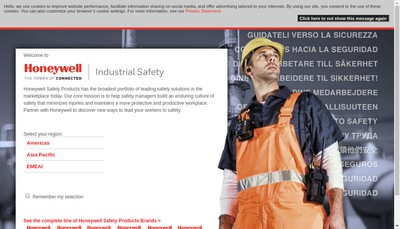 Site internet de Honeywell Safety Products Autun