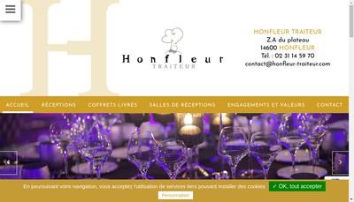 Site internet de Honfleur Traiteur