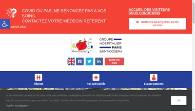 Site internet de Centre d'Irm Marie Lannelongue