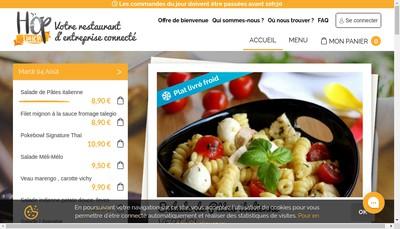 Site internet de Hoplunch