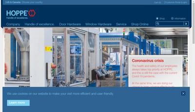 Site internet de Hoppe France