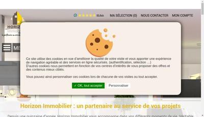 Site internet de SARL Horizon-Immobilier