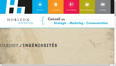 Site internet de Horizon Marketing