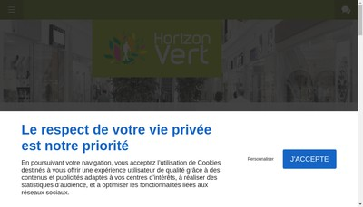 Site internet de Horizon Vert