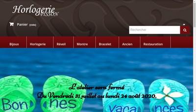 Site internet de Horlogerie Pisson