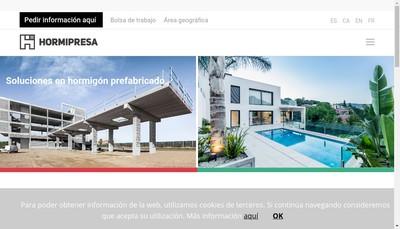 Site internet de Hormipresa Nec Sl