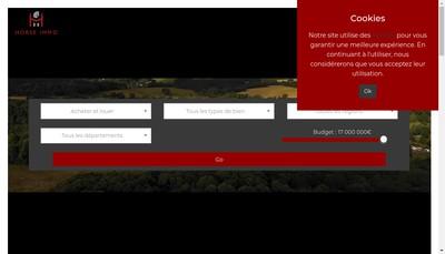 Site internet de Horse Immo