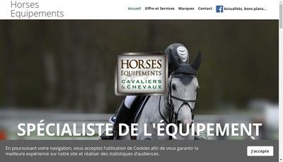 Site internet de Horses Equipements