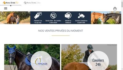 Site internet de Horse Store Prive