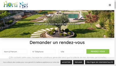 Site internet de Horti Net