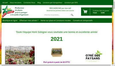 Site internet de Horti Sologne