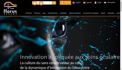 Site internet de Horus Pharma