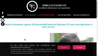 Site internet de Horus Evenements