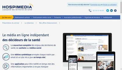 Site internet de Hospimedia