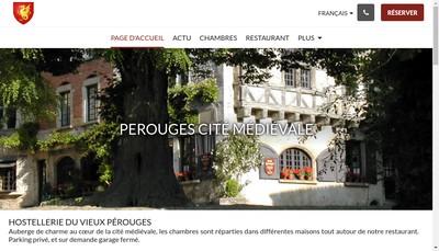 Site internet de Arcadie Hostellerie de Perouges