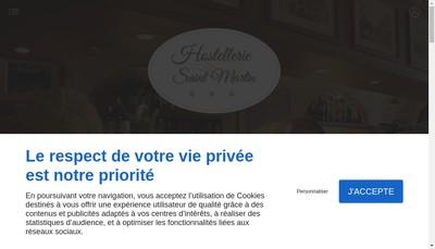Site internet de Hostellerie Saint Martin
