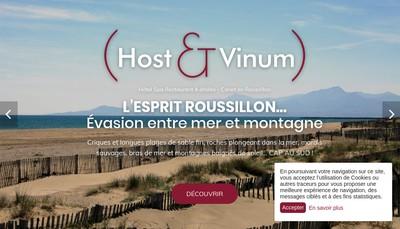 Site internet de Host & Vinum