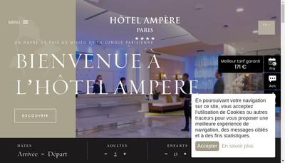 Site internet de Hotel Ampere