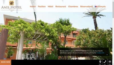 Site internet de Anis Hotel